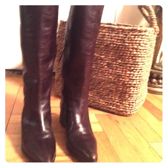 826fa2b15de2 Miu Miu tall zip pull on riding boots